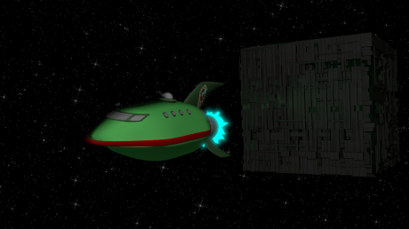Planet Express vs Borg Cube